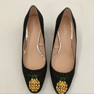 NWOT Zara Pineapple and Denim Shoes